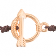 DQ European metal findings toggle clasp arrow Rose Gold (nickel free)