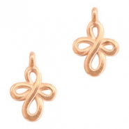 DQ European metal charms double infinity Rose Gold (nickel free)