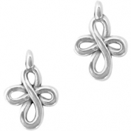DQ European metal charms double infinity Antique Silver (nickel free)