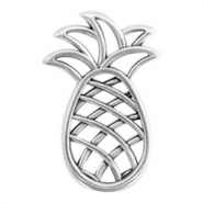 DQ European metal charms connector pineapple Antique Silver (nickel free)