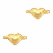 DQ European metal charms connector heart Gold (nickel free)