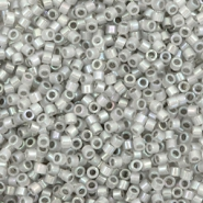 Miyuki beads delica's 11/0 Sparkling Pewter Lined Opal AB Grey DB-1770