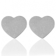 Stainless steel earrings heart Silver