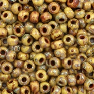 Miyuki seed beads 6/0 Opaque Picasso Brown 6-4517