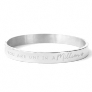 "Stainless steel bracelets ""YOU ARE ONE IN A MILLION"" Silver"