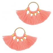 Tassels charm Gold-Coral Pink