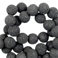 Katsuki beads/Lava 10mm Black (slightly lighter)