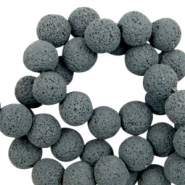 Katsuki beads/Lava 10mm Graphite Gray