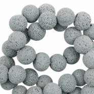 Katsuki beads/Lava 8mm Mirage Gray