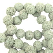 Katsuki beads/Lava 10mm Sage Green