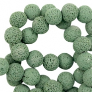 Katsuki beads/Lava 6mm Vivid Green