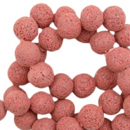 Katsuki beads/Lava 8mm Red Clay