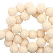 Katsuki beads/Lava 6mm Cream Beige