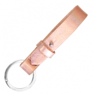 Cuoio key chain 15mm Holographic Rosegold