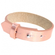15mm leather Cuoio bracelets for 20mm cabochon Holographic Rosegold