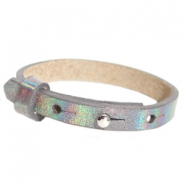 Cuoio bracelets leather 8mm for 12mm cabochon Holographic Anthracite
