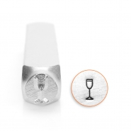 ImpressArt design stamps champagne glass 6mm Silver
