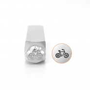 ImpressArt design stamps bycicle 6mm Silver