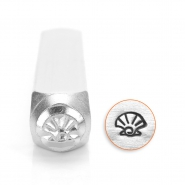 ImpressArt design stamps shell 6mm Silver