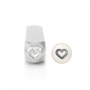 ImpressArt design stamps heart rope 6mm Silver