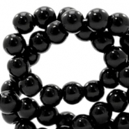 6 mm glass beads DQ full colour Black