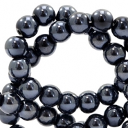 4 mm glass beads DQ full colour Black Pearl Coating