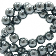 8 mm glass beads DQ full colour Black Amber Coating