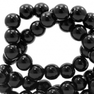 4 mm glass beads full colour Black