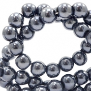 4 mm glass beads full colour Black Pearl Coating
