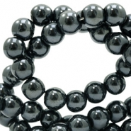 4 mm glass beads full colour Black Amber Coating