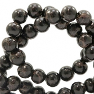 6 mm glass beads stone look Dark Chocolate Brown