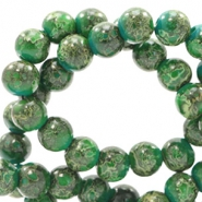 8 mm glass beads stone look Classic Green-Yellow