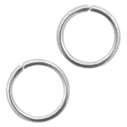 Stainless Steel findings jump ring 8mm Antique Silver