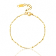 Stainless steel bracelets ball Gold