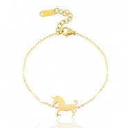 Stainless steel bracelets unicorn Gold