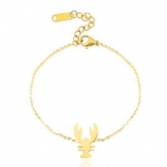 Stainless steel bracelets lobster Gold