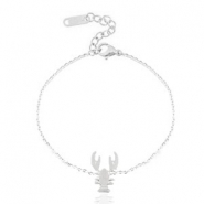 Stainless steel bracelets lobster Silver