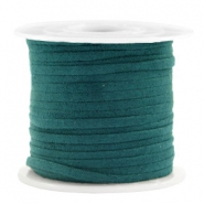 Trendy flat cord suede style 3mm 3mm Petrol Green