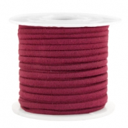 Trendy flat cord suede style 3mm 3mm Port Red