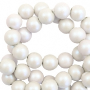 6 mm acrylic beads matt Grey-Pearl Coating