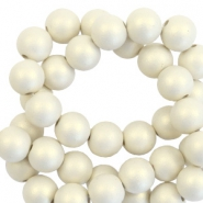 6 mm acrylic beads matt Silk Beige-Pearl Coating