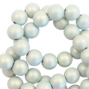 8 mm acrylic beads matt Light Blue-Pearl Coating