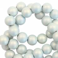 6 mm acrylic beads matt Light Blue-Pearl Coating