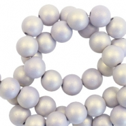 6 mm acrylic beads matt Lilac Purple-Pearl Coating