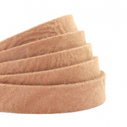 DQ European leather flat 10 mm Camel Brown