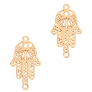 Bohemian connectors Hamsa hand Rose Gold
