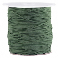 Macramé bead cord 1.0mm Fairway Green