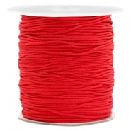 Macramé bead cord 1.0mm Scarlet Red