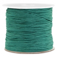 Macramé bead cord 0.7mm Emerald Green