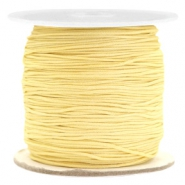 Macramé bead cord 0.7mm Old Linen Yellow